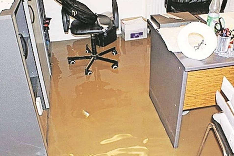 Das Büro von Malermeister Timo Grünheid stand unter Wasser. Foto: Privat