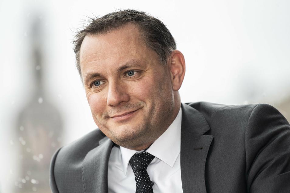 Tritt an: AfD-Bundeschef Tino Chrupalla kandidiert erneut für den Bundestag.