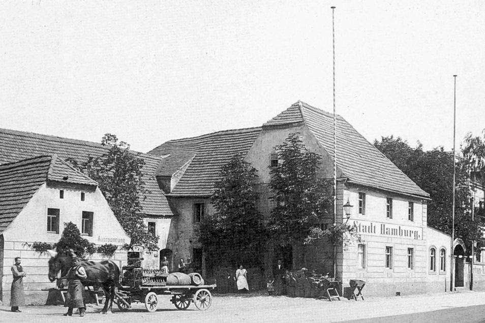 """Gasthaus """"Stadt Hamburg"""", Dresdner Straße 9"""