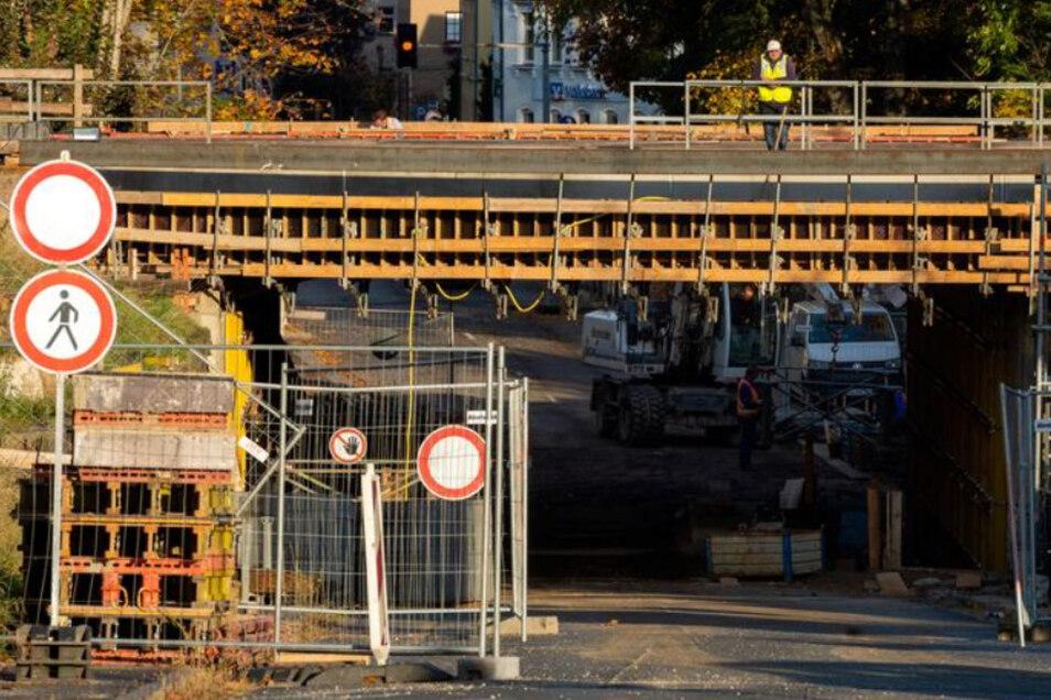 So sah es noch Ende Oktober auf der Baustelle Neustädter Straße aus.