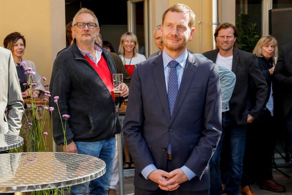 Ministerpräsident Michael Kretschmer (CDU) kam zur Einweihung.