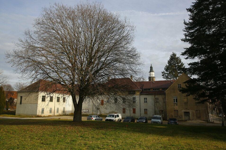 Das Barmherzigkeitsstift in Kamenz wird Teil einer Anlage für Betreutes Wohnen. Ein dreigeschossiger Neubau soll den Altbau ergänzen. Auf der Wiese entsteht ein öffentlicher Park.