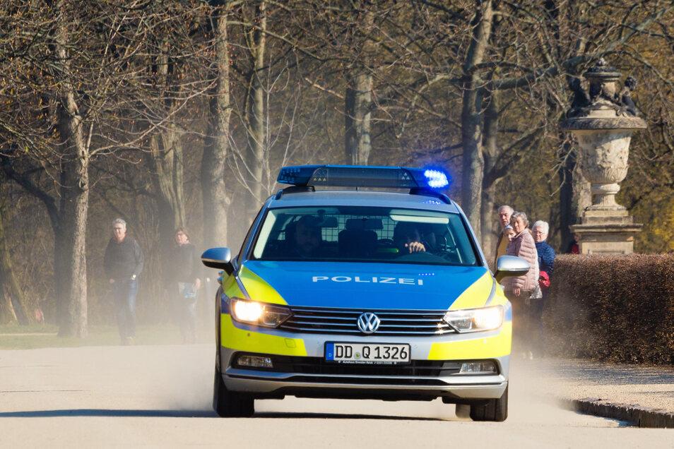 Die Dresdner Polizei war im Einsatz.