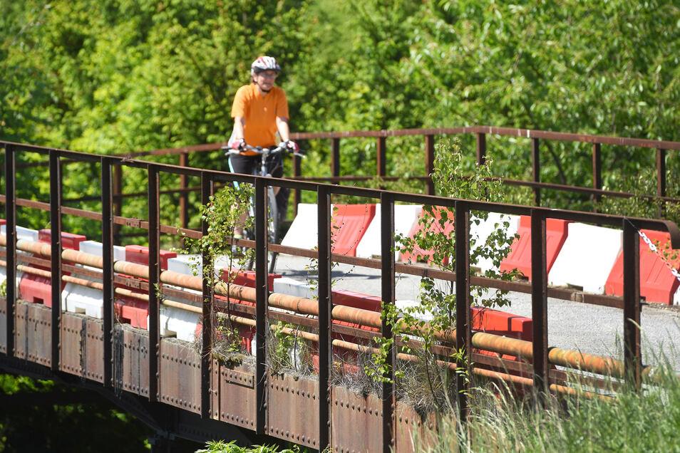 In dieser Form gibt es die Salzwegbrücke nicht mehr. Sie war baufällig und wurde abgerissen. Nun kommt eine neue.