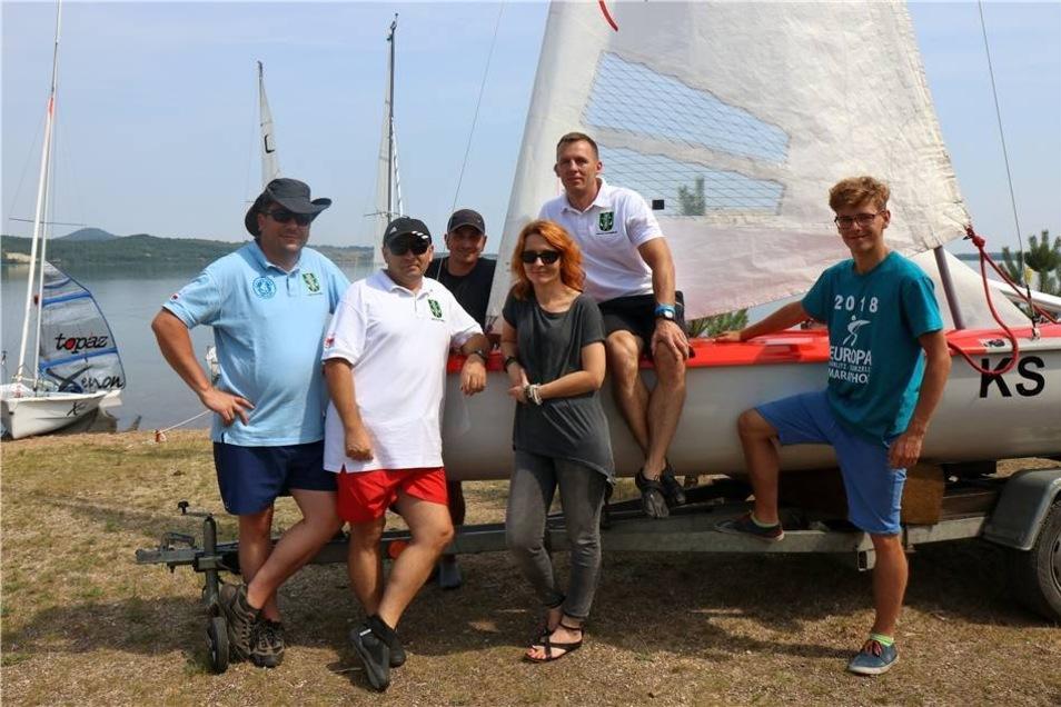 ... und auch aus Polen waren Gäste angereist. Artur, Jarek, Martin, Tomasz und Karol repräsentierten das Team vom KS Turow.