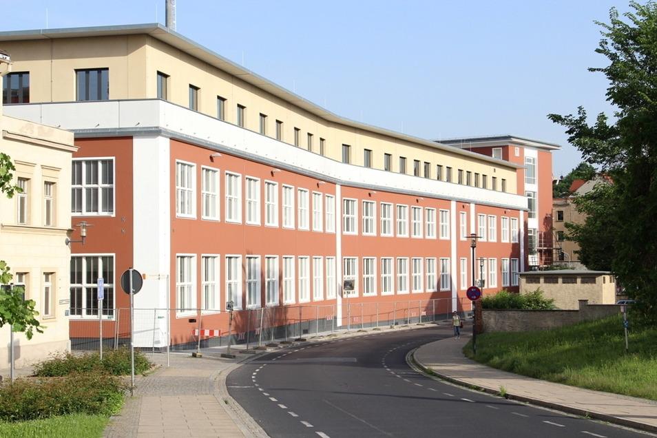 Noch während der Bauphase: die neue Polizeidirektion in Görlitz.
