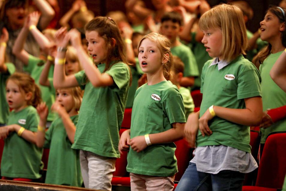 Rund 500 Kinder aus über 25 Grundschulen und Kitas sind Musikhelden - und hatten Ende Mai im Zittauer Theater ihren großen Auftritt.