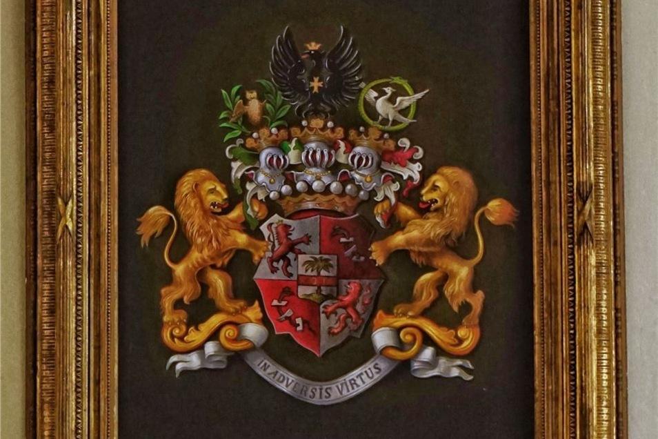 Das Wappen der Familie von Palm, die 200 Jahre in Lauterbach lebte.
