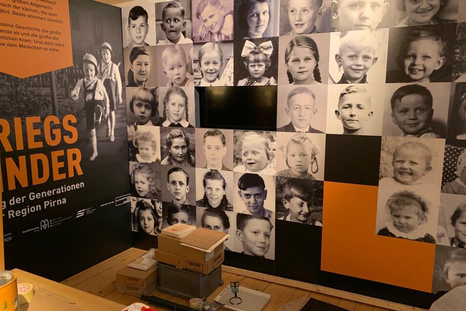 Kriegskinder-Ausstellung im Stadtmuseum: Viele Zeitzeugen haben Kinderbilder beigesteuert.