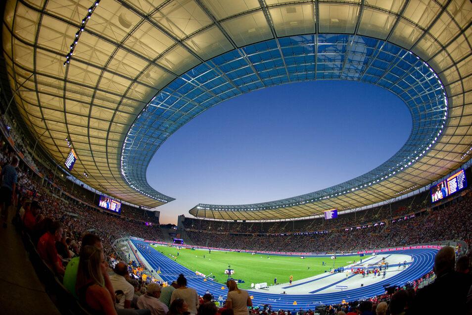 Im Olympiastadion tragen die Leichtathleten ihre Titelkämpfe aus