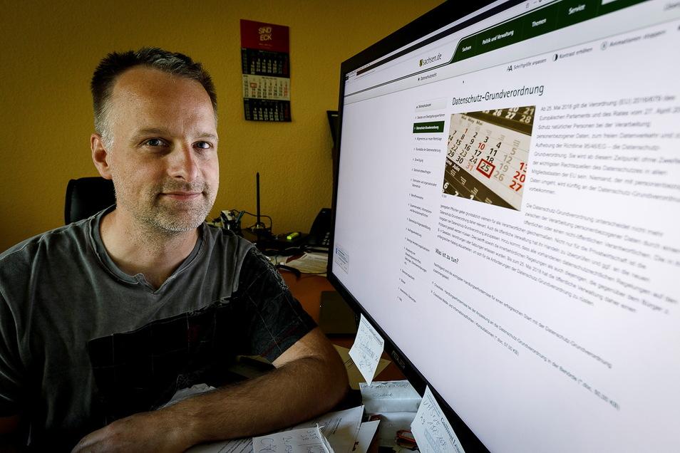 Peter Himmstedt und seine Firma Netcommunity Görlitz planen und verwirklichen den Glasfaser-Ausbau in Markersdorf.