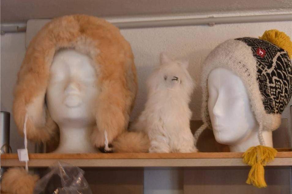 Alpaka-Mützen für alle, die es um den Kopf schön kuschlig mögen.