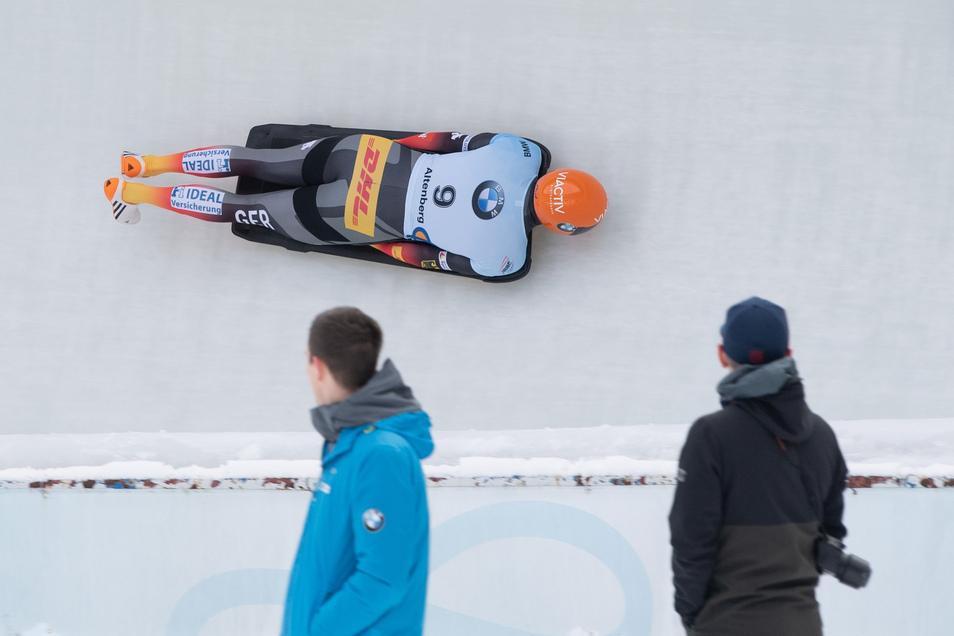 Nach dem ersten Lauf liegt Axel Jungk in Führung, mit Lauf zwei aber ist er nicht zufrieden.