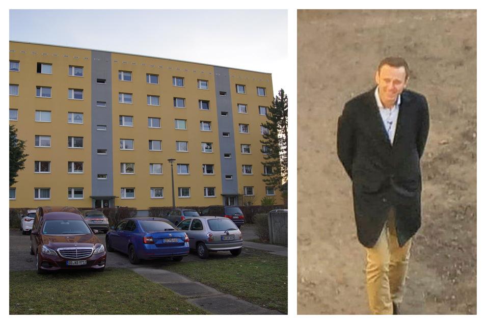 Alexej Nawalny, so wie ihn der Dresdner Jörg Hofmann vor seiner Wohnung auf der Radeberger Straße gesehen hat.