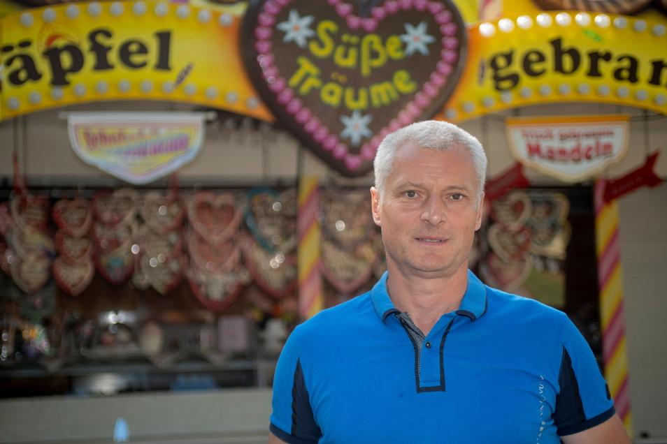 Mike Borowsky ist Vorsitzender des Schaustellerverbandes Dresden.