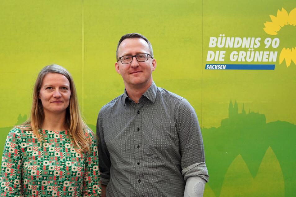 Das sind die Landesvorsitzenden der Grünen: Christin Furtenbacher und Norman Volger