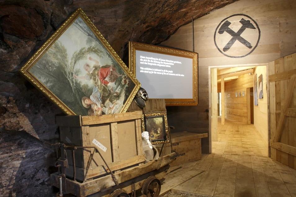 Gegen Kriegsende versteckten Nazis die Oppenheimer-Porzellane zusammen mit weiteren Kunstwerken im österreichischen Salzbergwerk Altaussee, wo sie nur knapp der Zerstörung entgingen.