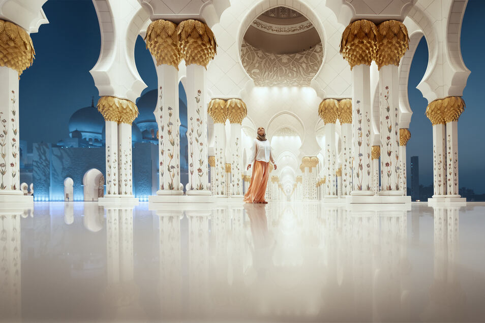 Sheikh Zayed Grand Mosque Panorama 1