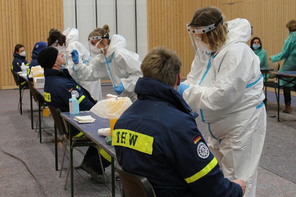 Testreihe: Alle Einsatzkräfte wurden auf das Coronavirus getestet. Alle Tests waren negativ.
