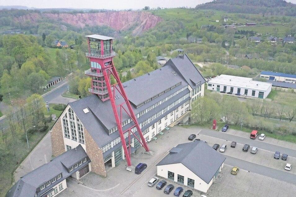 Ehemalige Berganlagen von Altenberg, hier der Zentralschacht im Europark, stehen mit auf der Vorschlagsliste für das Welterbe.
