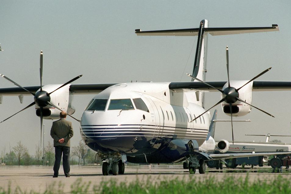 Eine Dornier 328 wartet auf dem Münchner Flughafen auf ihren Start. In Leipzig soll ein Nachfolgemodell gebaut werden.