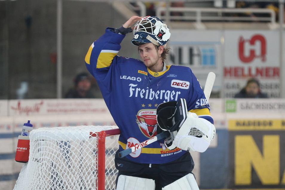 Füchse-Torwart Leon Hungerecker war ein sicherer Rückhalt in beiden Spielen des Wochenendes.