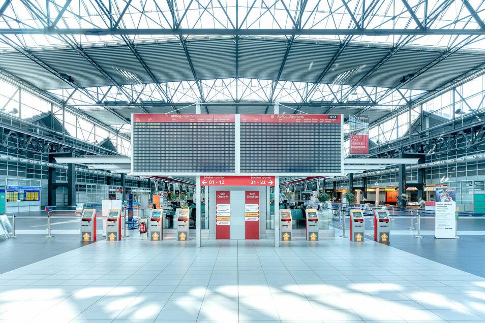 Teures Stillleben: Im gesamten April zählte der Dresdner Flughafen 25 Passagiere. Ein Jahr zuvor waren es noch 117.184.