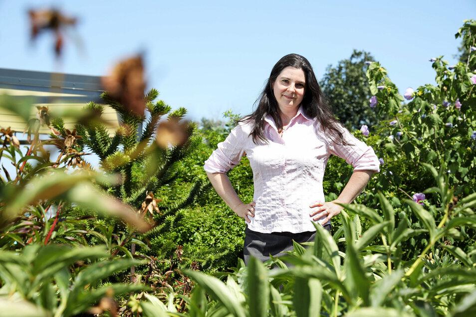 Britt Kniesel ist eine von drei Frauen, die Bürgermeisterin von Stauchitz werden wollen. Die promovierte Forstwirtin wohnt in Plotitz, lebt seit 25 Jahren in Sachsen.