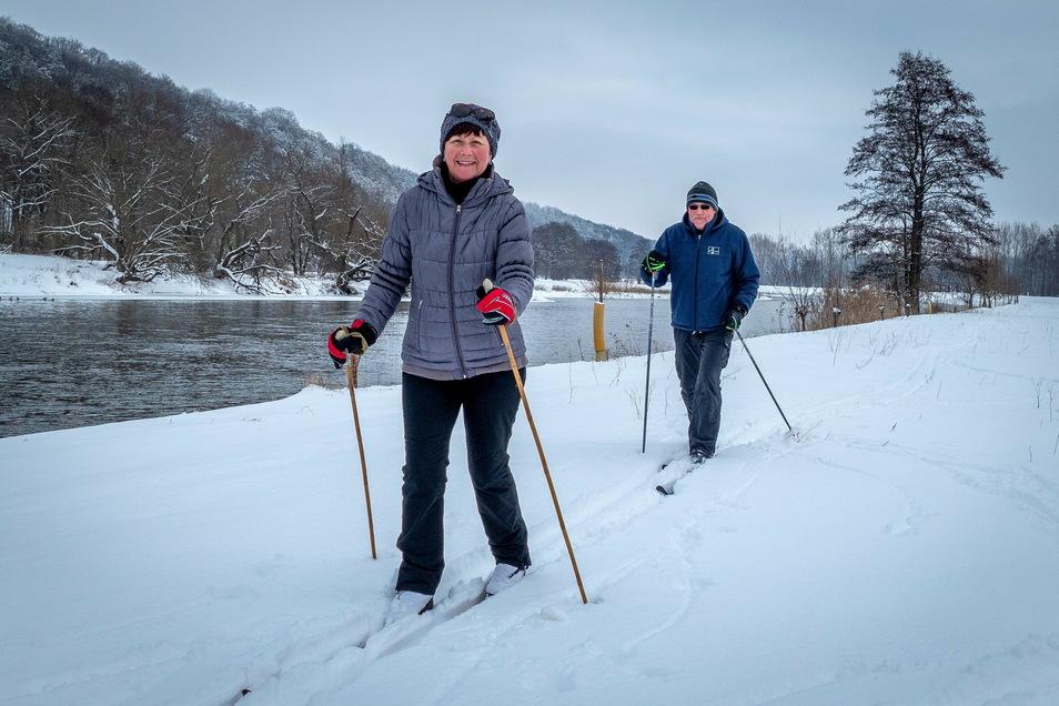 Edgar und Christine Wiedemuth haben bereits viele Langlauftouren rund um Leisnig unternommen.