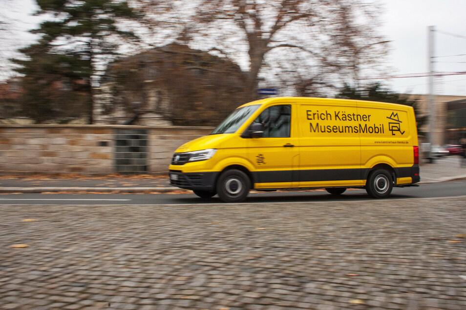 Das Museumsmobil des Erich Kästner Museums kommt im August zweimal nach Dippoldiswalde auf den Markt.