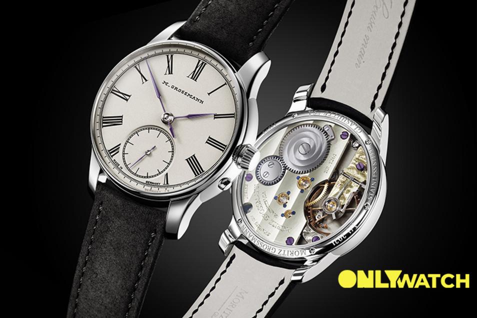 Diese Uhr lässt das Glashütter Unternehmen Moritz Grossmann in der Schweiz für einen guten Zweck versteigern.