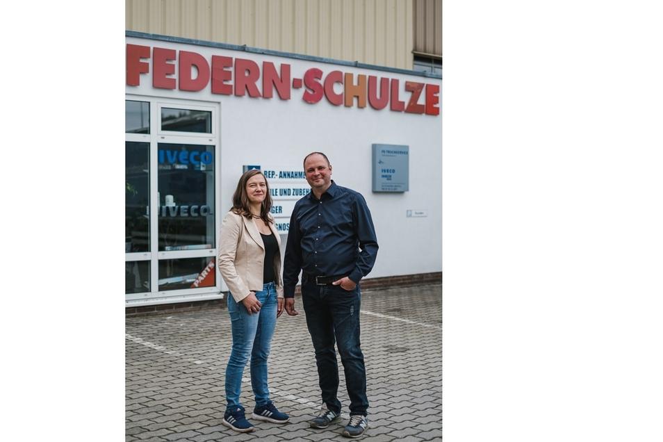 Constance Schulze und ihr Bruder Sebastian.