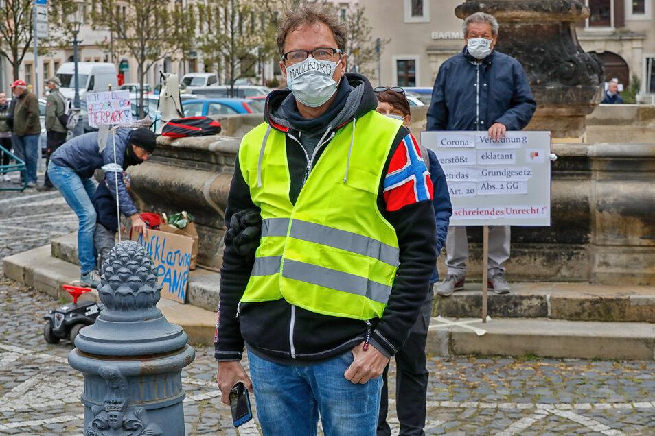 Die Kritiker der Corona-Maßnahmen um Steffen Golembiewski demonstrieren erneut.