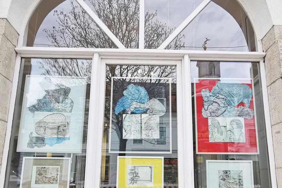 In der Fenster-Galerie im Parkhotel sind jetzt Arbeiten von Tim von Veh zu sehen.