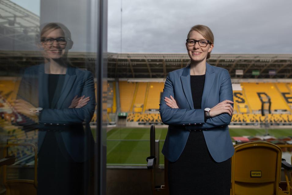 Eva Wagner hat als Geschäftsführerin der Event GmbH das Hockey-Open-Air im Rudolf-Harbig-Stadion mit ihrem Team organisiert.