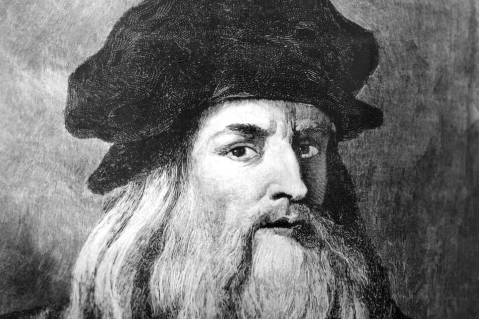 Leonardo da Vinci, italienischer Maler, Bildhauer, Baumeister, Ingenieur, Zeichner und Naturforscher.