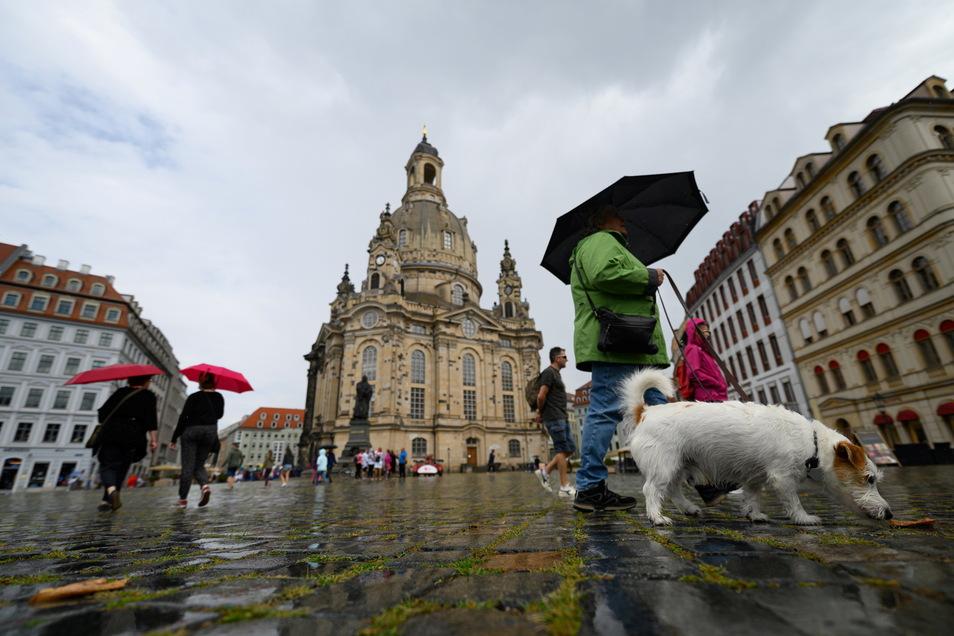 Auf dem Dresdner Neumarkt kam es zu einer Auseinandersetzung. Gegen einen 22-Jährigen wird wegen Körperverletzung ermittelt.