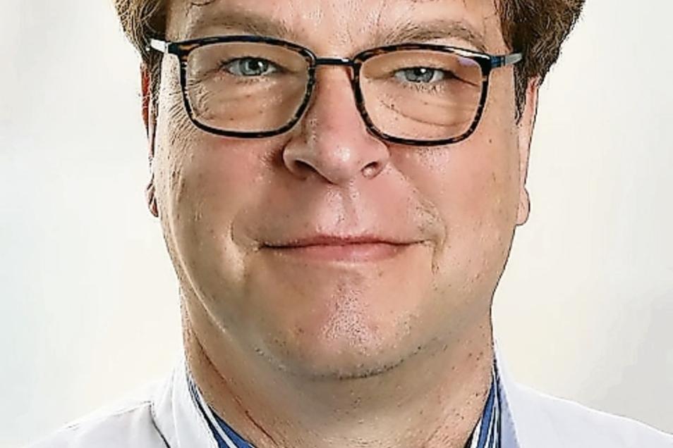 Dr. René Schwarz ist Ärztlicher Direktor an der Helios-Klinik in Leisnig.