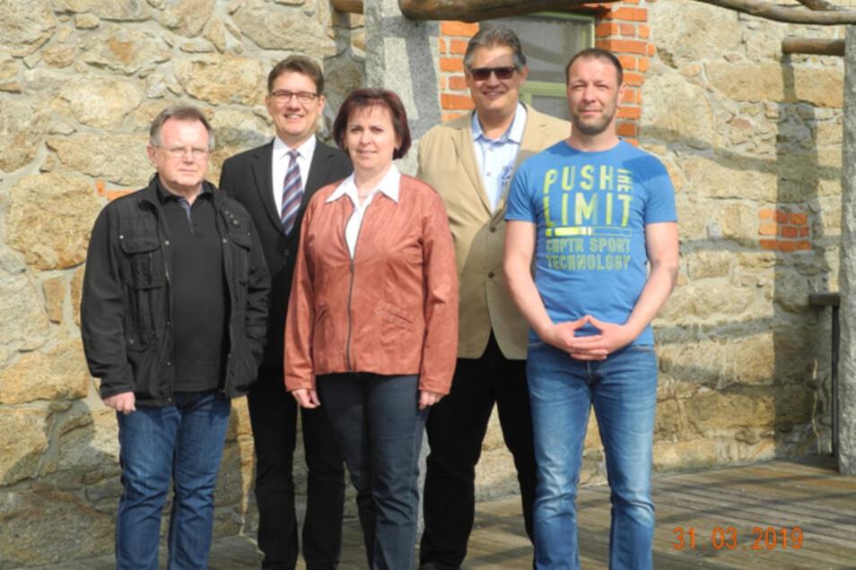 Sie treten für die Freien Wähler an: Andreas Schober, Peter Kunze, Sabine Frommer, Andreas Simon, Sven Kalkbrenner.