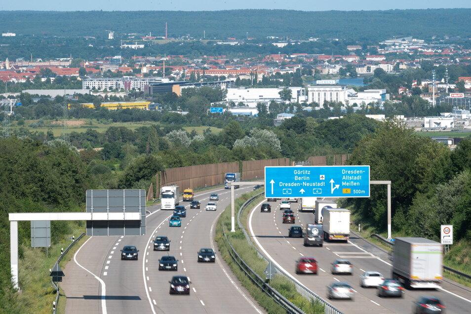 Am Sonntag droht auf der A4 im Bereich Dresden Stau.