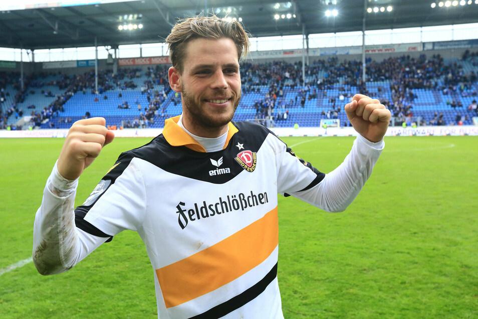 Das Trikot sieht nun anders aus, doch im Dezember trifft Justin Eilers wieder auf seinen Ex-Klub Dynamo.