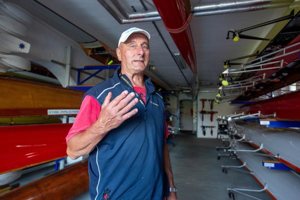Sein Wort zählt, wenn es ums Rudern geht: Olympiasieger Walter Dießner. Er ist dem MRC Neptun treu geblieben.