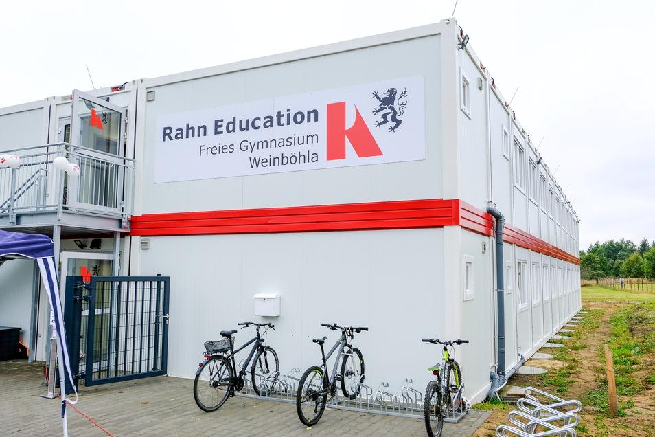 Vorerst ein Containerbau an der Köhlerstraße - das feste Gebäude und die Turnhalle sollen folgen.