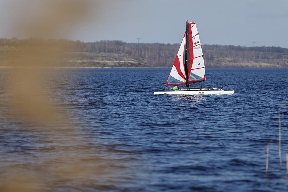 Görlitzer und Gäste genießen den Sommer in Görlitz und am Berzdorfer See, wo dieser Segler seine Runde dreht.