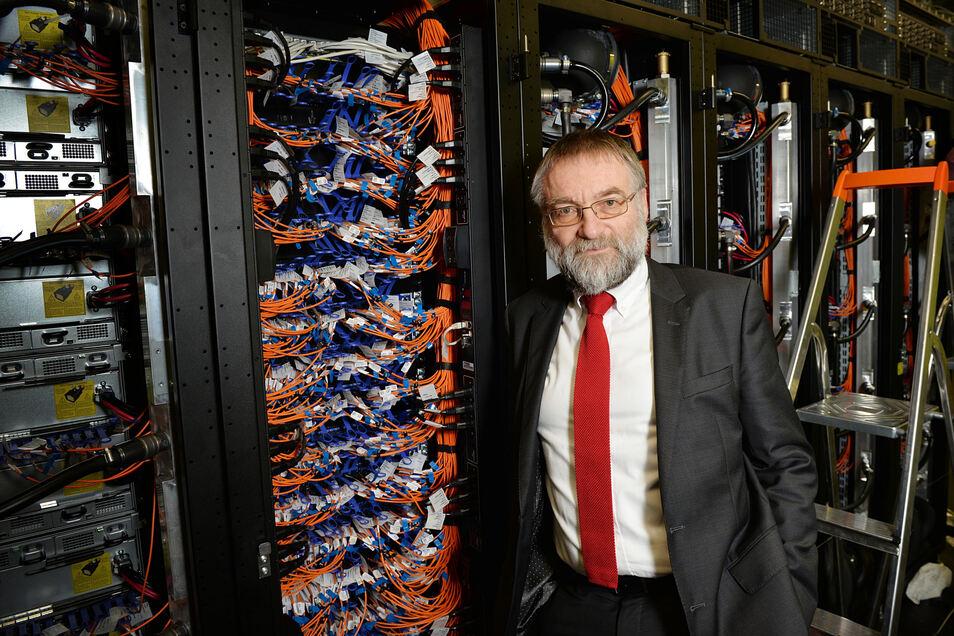 Prof. Wolfgang Nagel ist der Chef des Hochleistungsrechnens an der Dresdner Universiät. Unter seiner leitung entsteht hier eines der bedeutenden Big Data-Zentren Deutschlands.