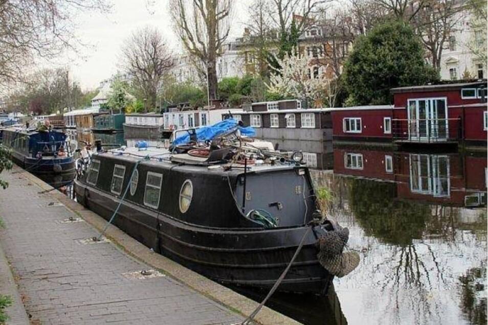 In London sind Hausboote nichts besonderes mehr. Hier leben Tausende auf Hausbooten, um den teuren Mieten an Land zu entkommen.