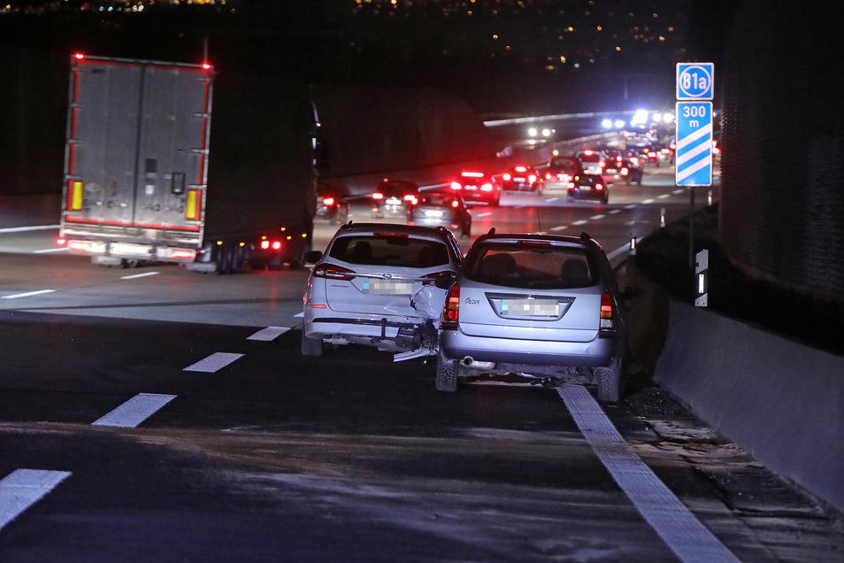 Am Sonntagabend kam es zu einem Unfall auf der Autobahn.