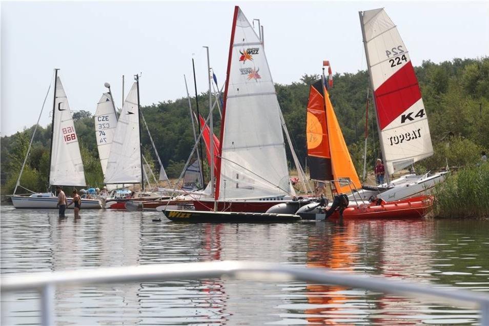 ... und dabei hatten die Teilnehmer viel zu tun. Die Vielfalft an Segelbooten war wie jedes Jahr groß. Neben hochmodernen Schiffen ...