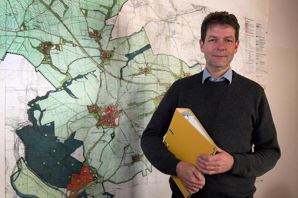Jörg Burkert freut sich über 140 Zuzüge in die Gemeinde Großweitzschen 2020.