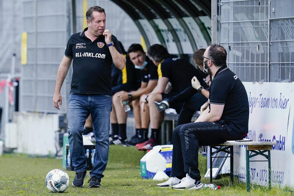 Trainer Marco Kauczinski hat einen Vertrag für die 3. Liga, und er hat auch schon betont, den Neuaufbau bei Dynamo anpacken zu wollen.
